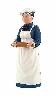 1/12th  SCALE DOLLS HOUSE VICTORIAN COOK WITH ROLLING PIN FIGURE