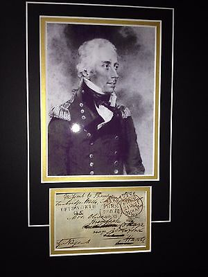 Sir George Nugent - Distinguished Army Field Marshal - Signed Photo Display
