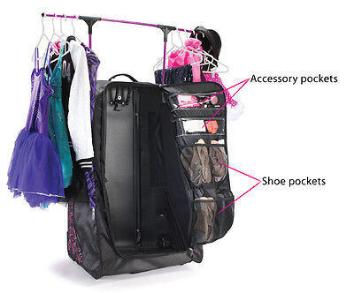 New Grit Dance Tower Dream Duffels WITH Rack and Roll FOLD AWAY Black Black