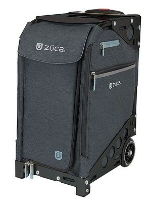 Zuca Professional Wheelie Case for Stenograph in Slate with Black Frame