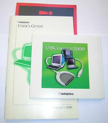 Adaptec USBConnect 2000 Software Install CD-ROM and User's Guide Manual (1999)