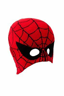 U442 Boys Snow Cold Protection Winter Novelty Spider Web Design Mask Beanie Hat