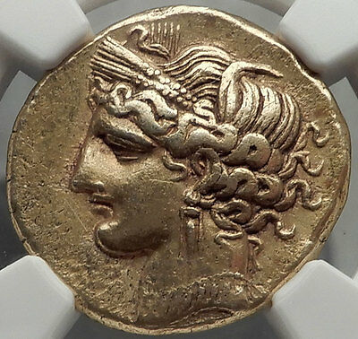 CARTHAGE 264BC First Punic War Electrum Coin Certified NGC Ch XF Extremely RARE