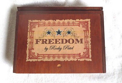 Rocky Patel Freedom Robusto Wood Cigar Box - Nice!