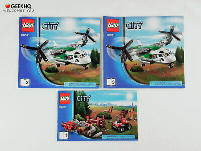 LEGO City #60021 Instruction Manuals ONLY (Book 1 to 3)