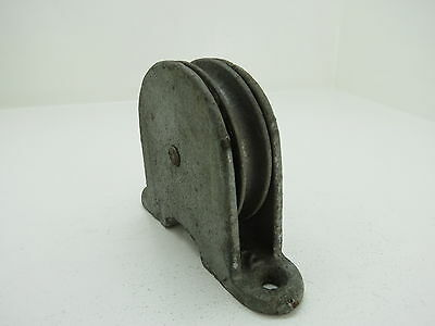 (#199)  3 Inch Galvanized Steel Deck Pulley Block Tackle