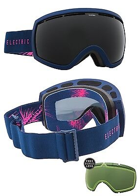 NEW Electric EG2.5 Matte Pinecones Navy Blue Black goggles + lens 2016 Msrp$160