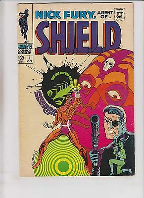 Nick Fury, Agent of S.H.I.E.L.D. #5 FN october 1968 - jim steranko shield marvel