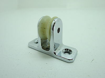 1 Inch Perko Chrome Deck Pulley Block Boat Ship Brass Tackle (#200)