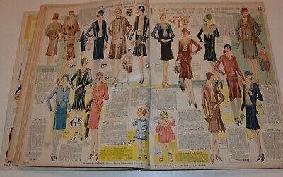 Vintage 1929-30 Big Clothing Catalog! Flapper Fashions! Dresses/coats/hats/shoes