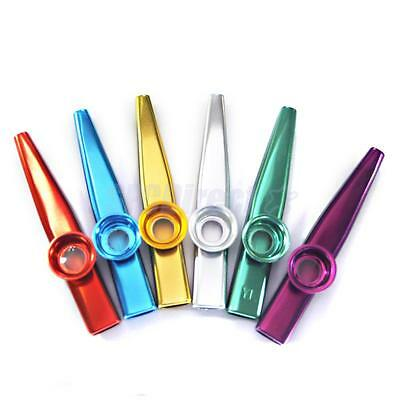 Metal Kazoo 5 Diaphragm Harmonica Mouth Flute Kids Party Gift Musical Instrument