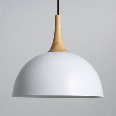 Vintage Pendant Lamp - Metal Dome | w/ LED 7W Bulb | Dining Nordic Wood
