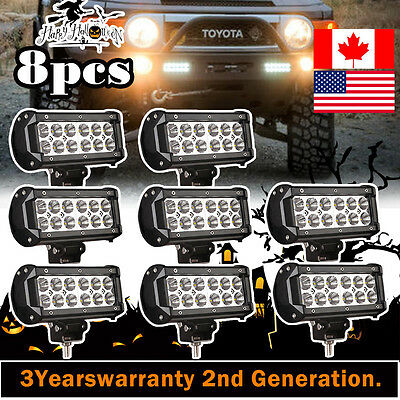 8x 7inch 36w CREE LED Work Light Bar Offroad Driving  Bumper SUV Truck Jeep 6in