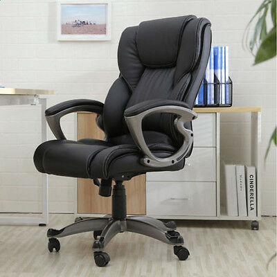 New High Back PU Leather Executive Office Desk Task Computer Chair w/ Metal Base