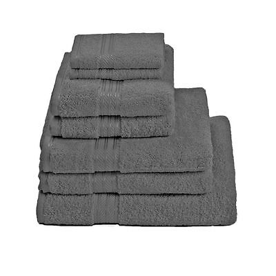 Restmor 100% Egyptian Cotton 7 Piece Supreme Towel Bale Set - Charcoal