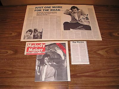 THE KINKS - Clippings Collection 46 Items: Ads, Articles, Reviews, etc....
