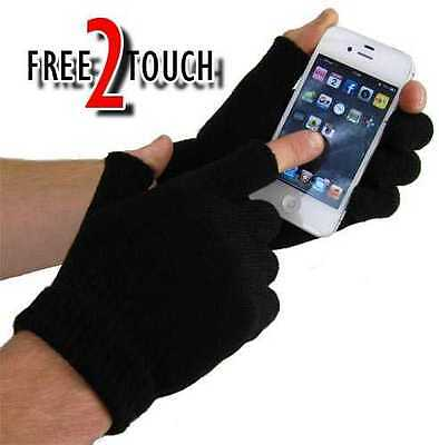 Magic Gloves Free 2 Touch Mens Ladies Childrens Gripper Free 2 Touch Gloves Warm