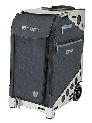 Zuca Professional Wheelie Case for Stenograph in Slate with Silver Frame