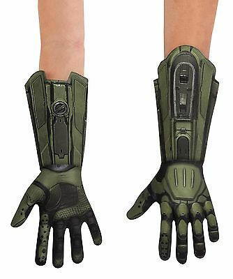 Child Master Chief Halo Game Gloves Costume Acessory Dg89997Ch
