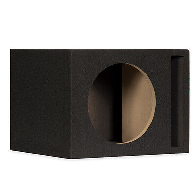 "10SP Ported 10"" Single Car Bass Box Speaker Enclosure Cabinet for Car Truck SUV"