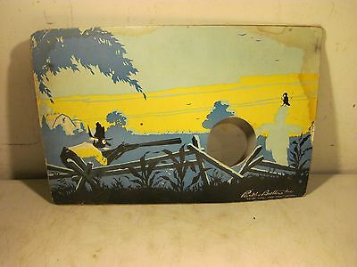 Vintage Antique 1940 Parker Brothers Crow Hunt Game Piece Cardboard Shoot USA