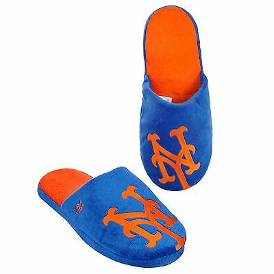 NY New York Mets Slippers Team Colors Logo NEW Two Toned House shoes BLG