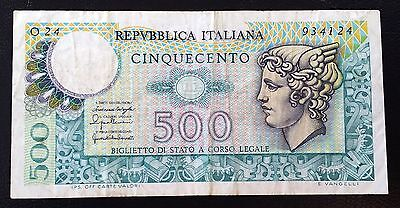 ITALY: 1976 500 Lire Banknote ** VF+ CONDITION **  P-95 ◢ FREE COMBINED S/H ◣