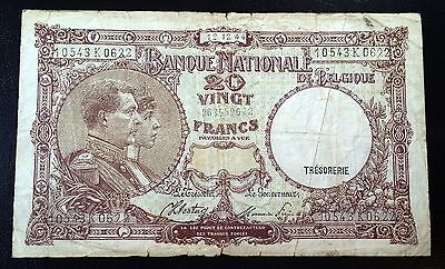BELGIUM: 12.12.1944 20 Francs Banknote, P-111 ◢ FREE COMBINED S/H ◣