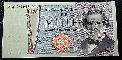ITALY: 1969 1000 Lire Banknote ** AU Condition **  P-101a ◢ FREE COMBINED S/H ◣