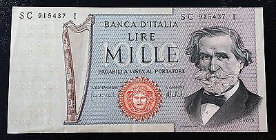 ITALY: 1975 1000 Lire Banknote *AU/UNC Condition*  P-101d ◢ FREE COMBINED S/H ◣