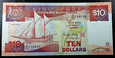 SINGAPORE: 1988 $10 Dollars Banknote, P-20 ** VF+ ** ◢ FREE COMBINED S/H ◣