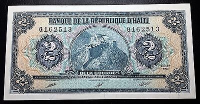 HAITI: 1990 1989-91 Issue 2 Gourdes Banknote *UNC* P-254 - FREE COMBINED S/H