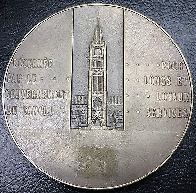 CANADA LONG & EFFICIENT SERVICE AWARD MEDAL - 106g OF 925 SILVER