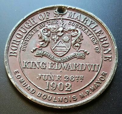1902 Borough Of St Marylebone Coronation Of King Edward Medal