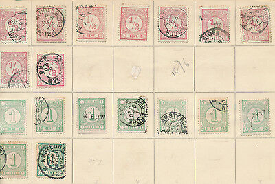 Netherlands Holland stamp collection on album page from 1876