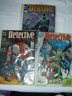 "BATMAN.""BLIND JUSTICE"".COMPLETE 3 PART STORY by SAM HAMM.DETECTIVE #598-600.1989"