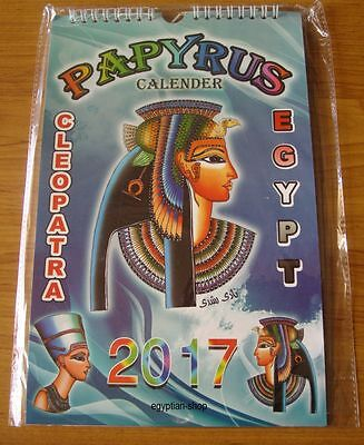 2017 Egyptian Papyrus Calendar  - CLEOPATRA - 6 Pages-Pharaonic Scenes