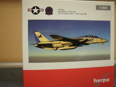 Herpa Wings 1:200 F-14A US Navy Black Lions, Last Cruise 06