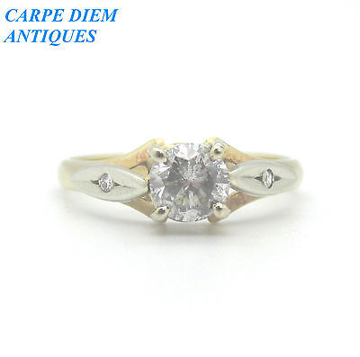 BEAUTIFUL 70pt SOLITAIRE DIAMOND SOLID 9CT GOLD RING, U.K SIZE N 1/2, U.S 6 3/4