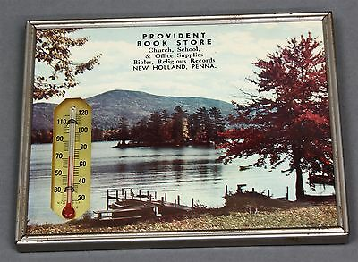 1965 Provident Book Store New Holland Pa Advertising Thermometer Calendar Art