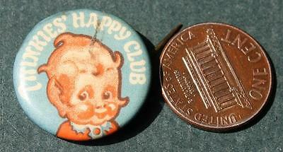 CUTE 1910-20s Era Twinkies Happy Club Hamilton-Brown Shoes celluloid pin-VINTAGE