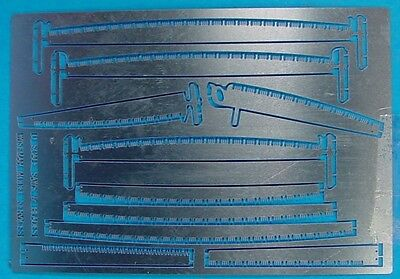 O/On3/On30 1/48 WISEMAN MODEL SERVICES OLS-1 LOGGING SAWS & BLADES ETCHING SET
