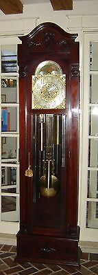 Antique Magnificent 1913 Herschede Grandfather Clock 9 Pipes And 2 chime modes.
