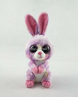 "6"" Ty Beanie Boos Easter Purple Rabbit Bunny Stuffed Animals Girl Toys No Label"