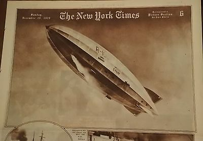 Airship Dirigible Ny Times R100 Roto Photography Section December 29, 1929