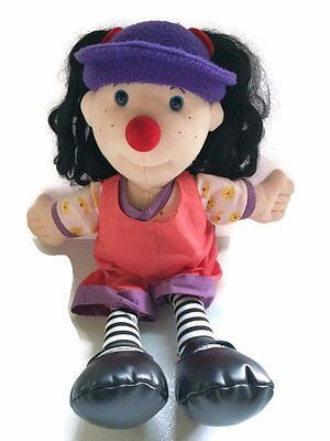 "Big Comfy Couch LOONETTE THE CLOWN 20"" Doll Plush 1995 Vintage Toy Stuffed"