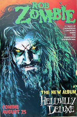 """ROB ZOMBIE """"HELLBILLY DELUXE - COMING AUG 25"""" U.S. PROMO POSTER (Large Version)"""