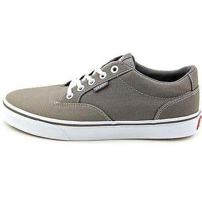 88f7507468 DEFECT Women s VANS WINSTON Taupe Gray White Canvas Casual Skate Shoes NEW