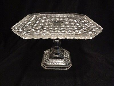 Antique Victorian 1800's Cake Stand- Finecut Diamond-Superb