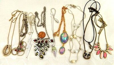 Vintage & Modern Necklaces  Lot of 9 Rhinestone  Dangle MORE